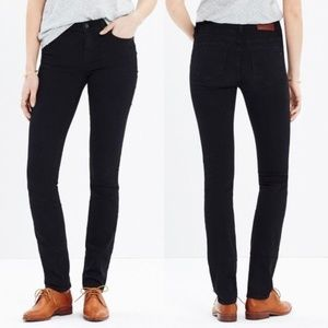 Madewell Alley Straight Jeans in Black Frost 111